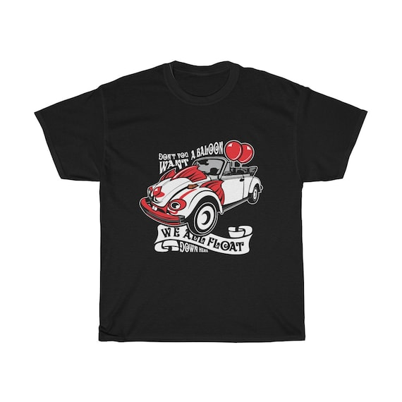 Scary Clown Car, Unisex Heavy Cotton T-shirt, Inspired By The Horror Movie IT
