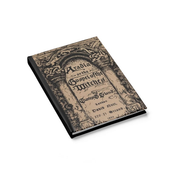 Gospel Of The Witches, Hardcover Journal, Opens Flat, Ruled Line, Title Page From A Vintage Book