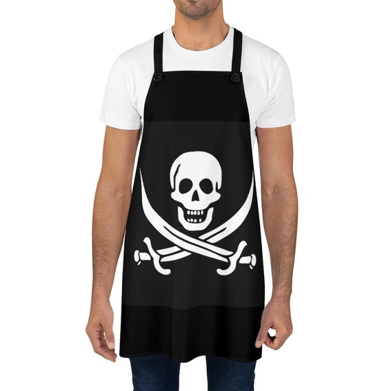 Skull & Crossed Cutlasses, Cookout Apron, Pirate Flag, Jolly Roger