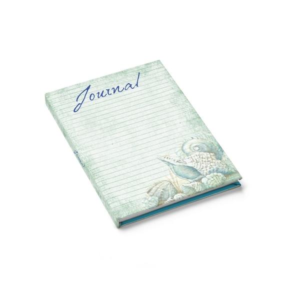 Seashell Themed Hardcover Journal, Notebook