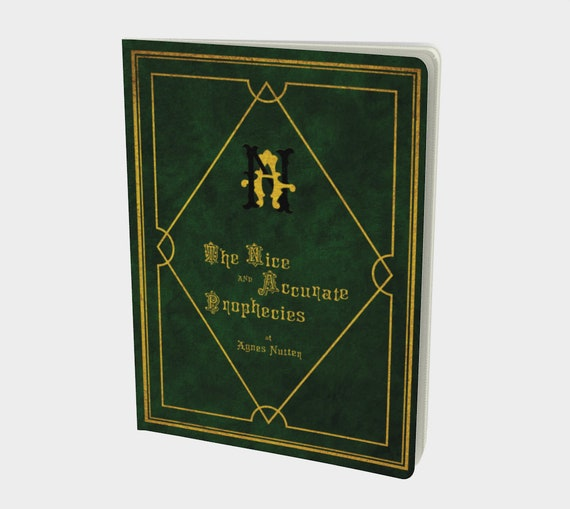 The Nice and Accurate Prophecies of Agnes Nutter, Large Paperback Journal, Good Omens Inspired