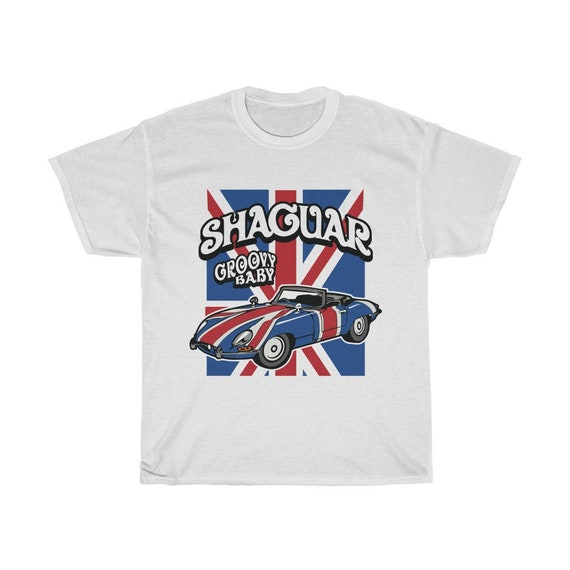 Groovy Shaguar, Unisex Heavy Cotton T-shirt, Inspired From Austin Powers
