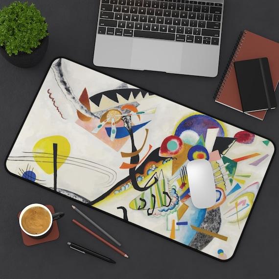 Blue Segment Desk Mat, Wassily Kandinsky, Abstract