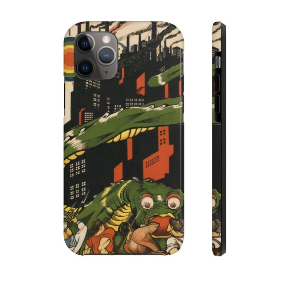 Death To World Imperialism, iPhone 11 Tough Case, 1919 Bolshevik Propaganda Poster, Activism