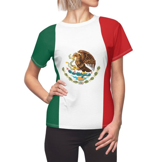 Mexican Eagle Women's Top, Flag Of Mexico, AOP