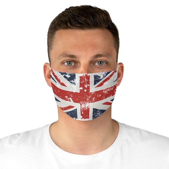 Grunge Union Jack, Cloth Face Mask, Washable, Reusable, United Kingdom Flag, UK