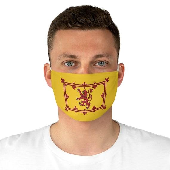 Lion Rampant of Scotland, Cloth Face Mask, Washable, Reusable, Scottish Pride