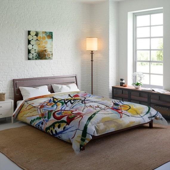 Kandinsky's Violet Wedge Queen Comforter, Abstract