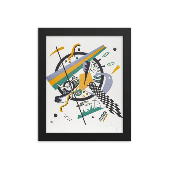 """Small Worlds #4, 8""""x10"""" Framed Giclée Poster, Black Wood Frame, Acrylic Covering, Wassily Kandinsky, Circa 1922, Abstract"""
