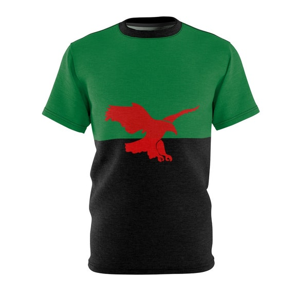 House Atreides v2, Unisex T-shirt, Inspired From Dune, Cosplay, Red Hawk, Banner, AOP