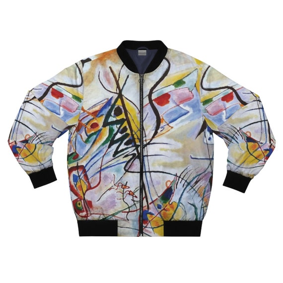Violet Wedge, Men's Jacket, Abstract, Wassily Kandinsky, 1919