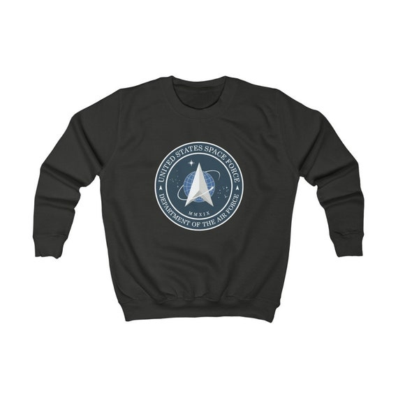 Space Force Insignia Logo, Kids Sweatshirt, Sizes XS to XL, From Official USSF Seal, Military