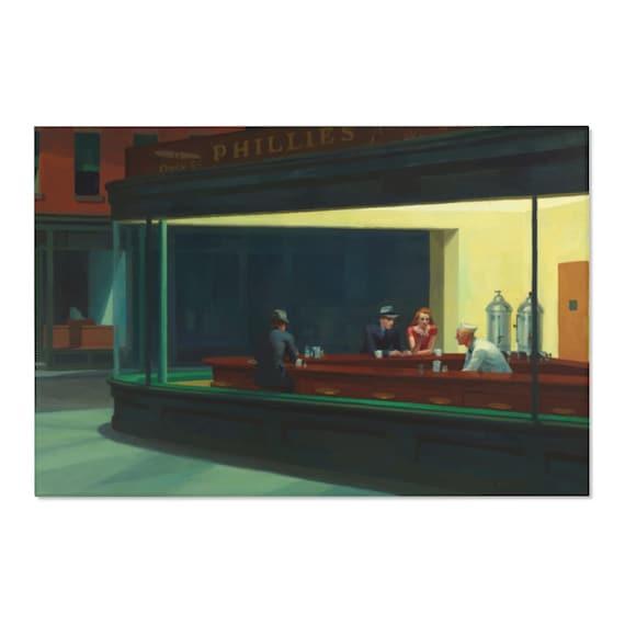 Nighthawks 4'x6' Area Rug, Edward Hopper, Night Owls, Insomniacs, Americana