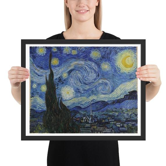 "The Starry Night, 20"" x 16"" at 300 DPI Digital Image, Vincent Van Gogh"