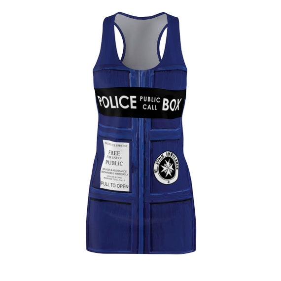 TARDIS Racerback Dress, Inspired by BBC TV Show Doctor Who