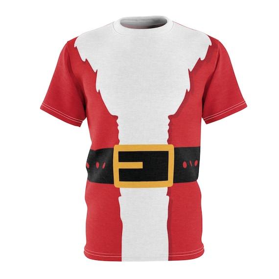 Santa Suit, Short Sleeve Shirt, Christmas, AOP, XMAS Gift