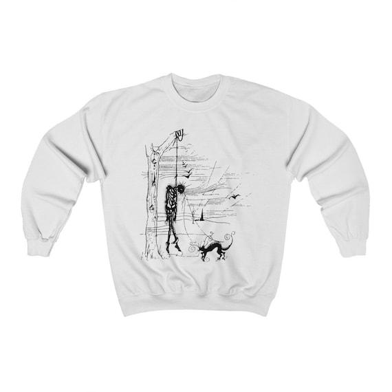 Black Cat's Revenge Sweatshirt, Inspired By Edgar Allan Poe Short Story, Vintage Illustration