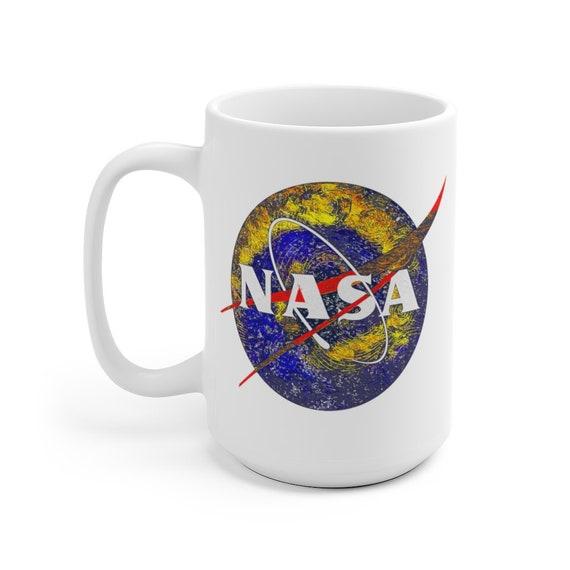 NASA Starry Night Large White Ceramic Mug, Coffee, Tea