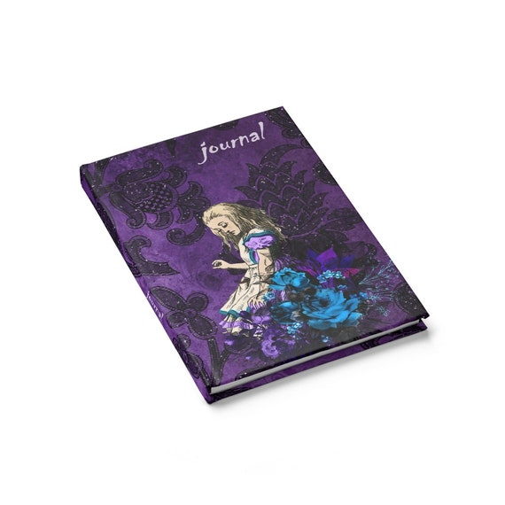Alice Contemplates Her Situation, Journal, Hardcover, Ruled Line, Alice In Wonderland, Notebook