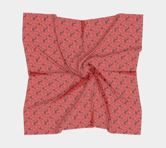 Roses, Silk Scarf, Square, 4 Sizes, Great Valentine's Day Gift