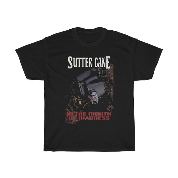 In The Mouth Of Madness, Black Unisex T-shirt, Inspired from Fictional Sutter Cane Cosmic Horror Novel, Lovecraft