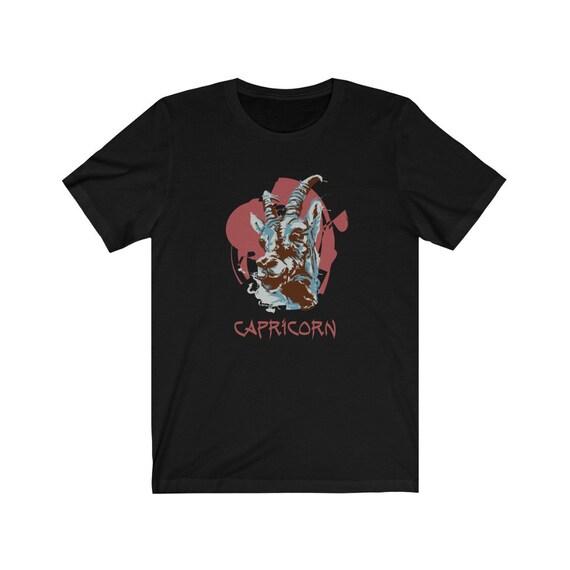 Retro Capricorn Bella+Canvas Black T-shirt, Zodiac Sign, Astrology Gift