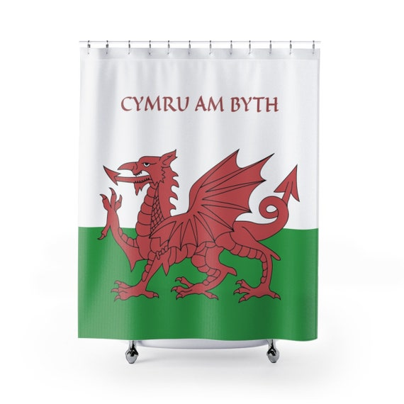 Cymru Am Byth, Shower Curtain, Red Dragon, Flag Of Wales, Welsh Motto, Welsh Pride