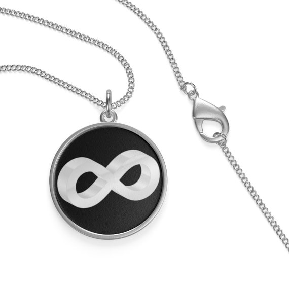 Silver Infinity, Sterling Silver Necklace, Represents The Concept Of Eternity, Endless & Unlimited