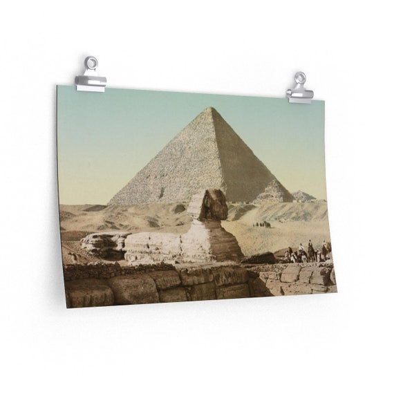 The Sphinx  - Fine Art Poster - From An Antique Vintage Postcard, Circa 1890 To 1906...