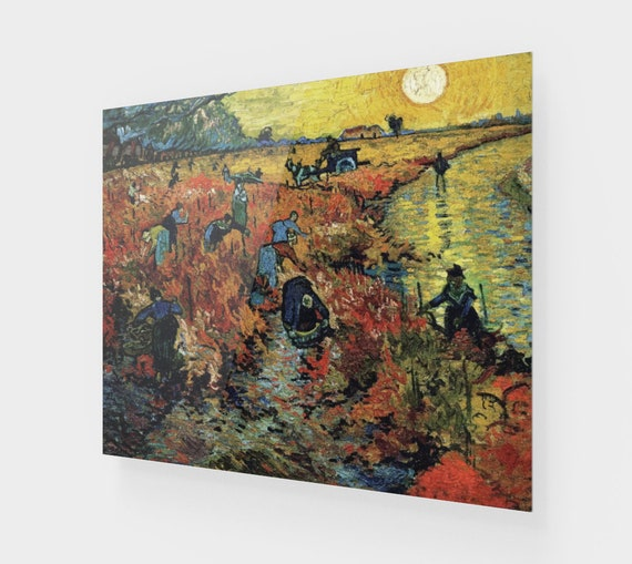 Red Vineyard, Printed On Acrylic, Vintage Painting, Van Gogh 1888