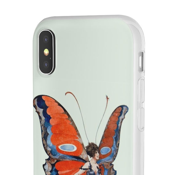 Butterfly Woman, iPhone Flexi Case, Vintage, Antique Illustration, Circa 1920