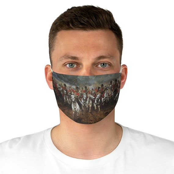 Scotland Forever! Cloth Face Mask, Washable, Reusable, Charge of the Royal Scots Greys, Battle of Waterloo, Military History