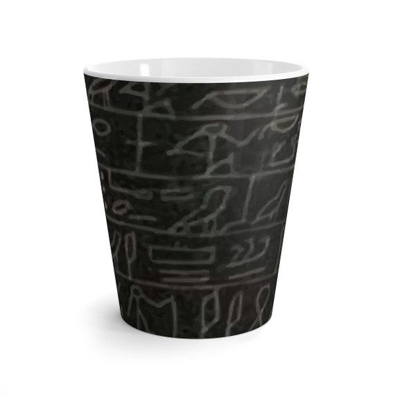 Heart Scarab, 12oz Latte Mug, Halloween, Ancient Egyptian Hieroglyphs