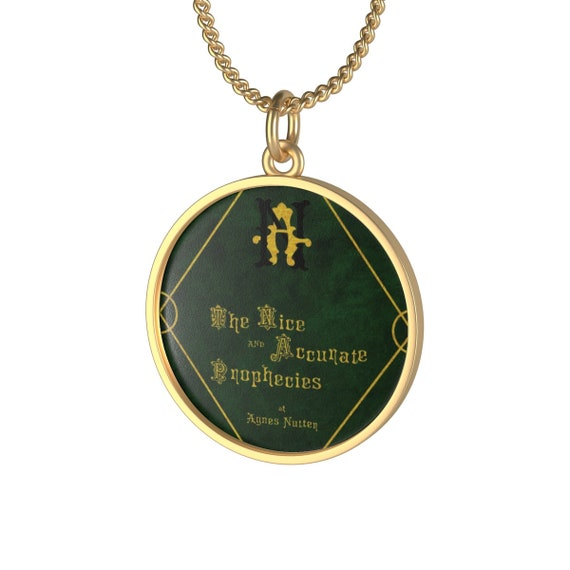 The Nice and Accurate Prophecies of Agnes Nutter, 18K Gold Plated Chain Necklace, Inspired By Good Omens