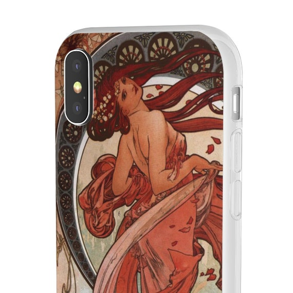 Dance - iPhone Flexi Case - Antique Vintage Fantasy Illustration Of Woman Dancing, Circa 1898.