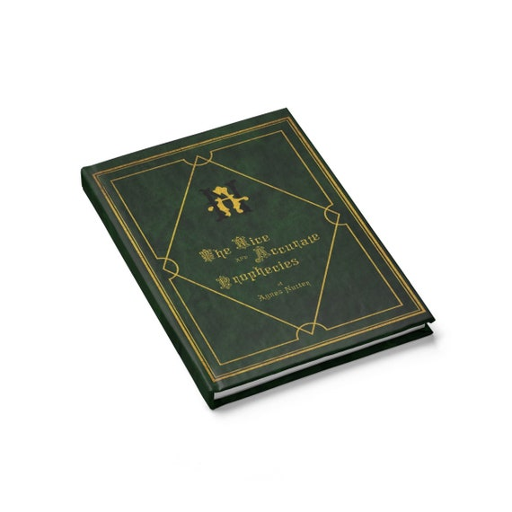 The Nice and Accurate Prophecies of Agnes Nutter, Hardcover Journal, Ruled Line, Cosplay, TV Book, Good Omens