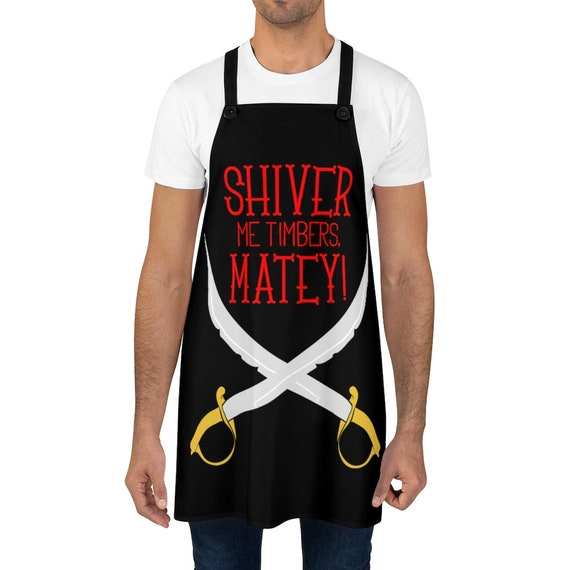 Shiver Me Timbers, Cookout Apron, Crossed Cutlasses, Pirate