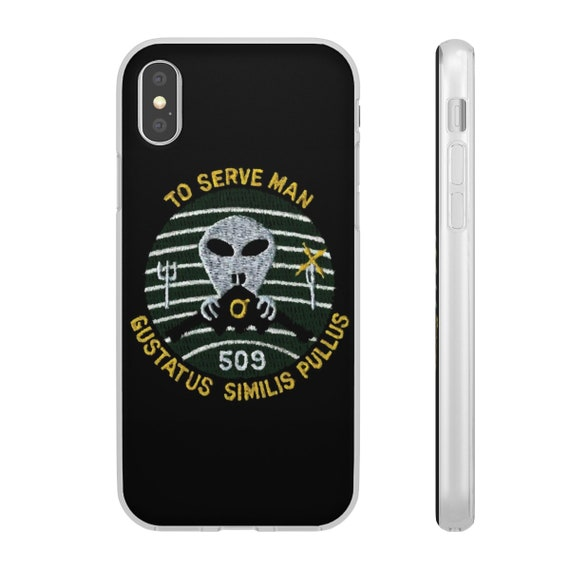 To Serve Man, iPhone X Series Flexi Case, References Vintage Twilight Zone Episode
