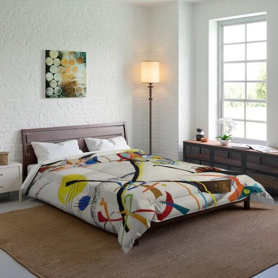 Kandinsky's Blue Segment Queen Comforter, Abstract