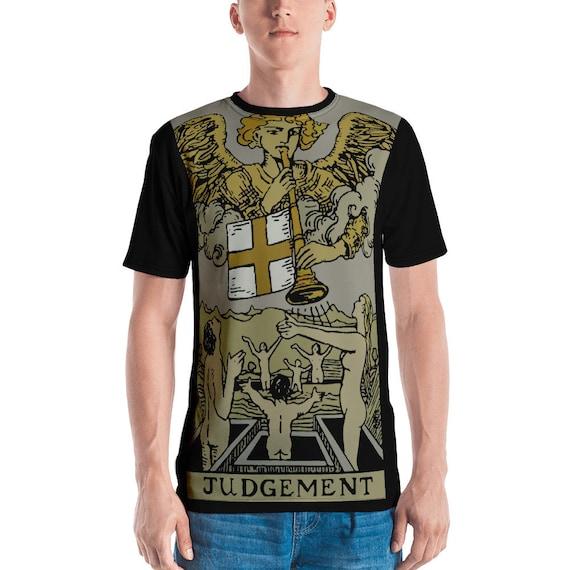 Judgement Tarot Card, Unisex T-shirt, Vintage, Antique Illustration