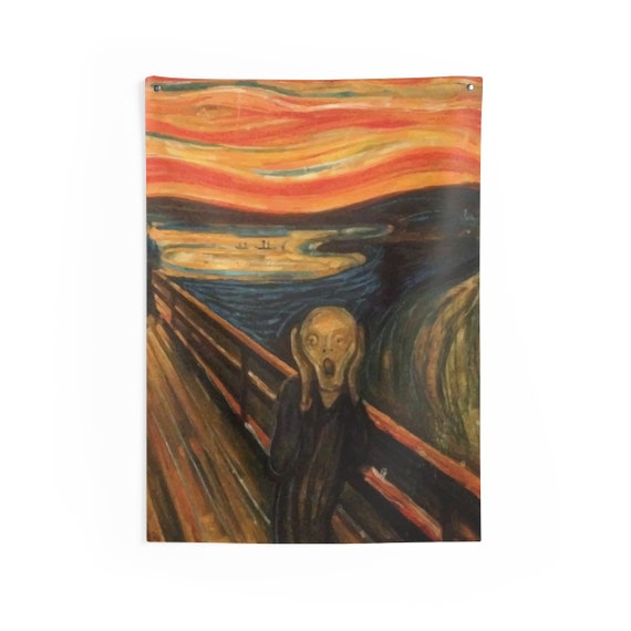 The Scream, Indoor Wall Tapestry, Vintage/Antique Painting, Edvard Munch 1893