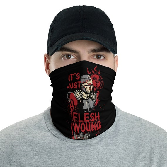 It's Just A Flesh Wound, Neck Gaiter, Black Knight, Inspired From Monty Python, Headband, Bandana