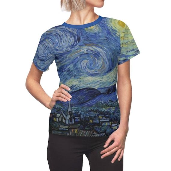 Starry Night Women's Top, AOP, Vincent Van Gogh