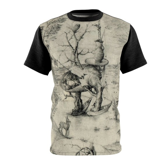 Tree Man Sketch Shirt, Surreal, Hieronymus Bosch, AOP