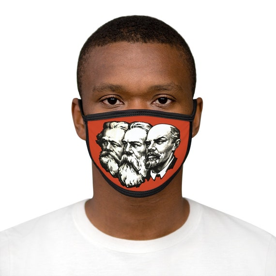 Marx Engels Lenin, Cotton & Polyester Face Mask, Washable, Reusable, Socialism, Communism, Marxism, Activism