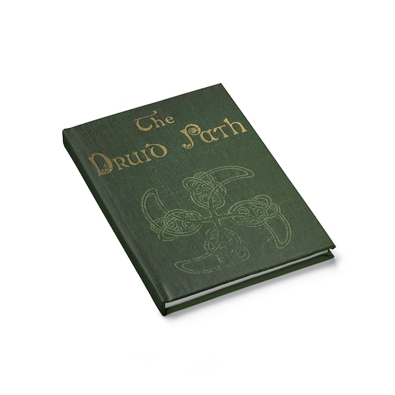 The Druid Path, Hardcover Journal, Opens Flat, Ruled Line, Vintage Book Cover, Irish, Scottish, Welsh, Notebook