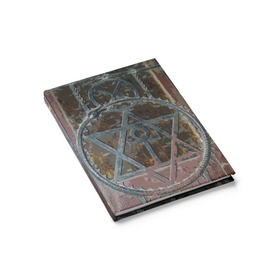 Cosmic Grimoire, Hardcover Journal, Ruled Line, Vintage Image, Notebook