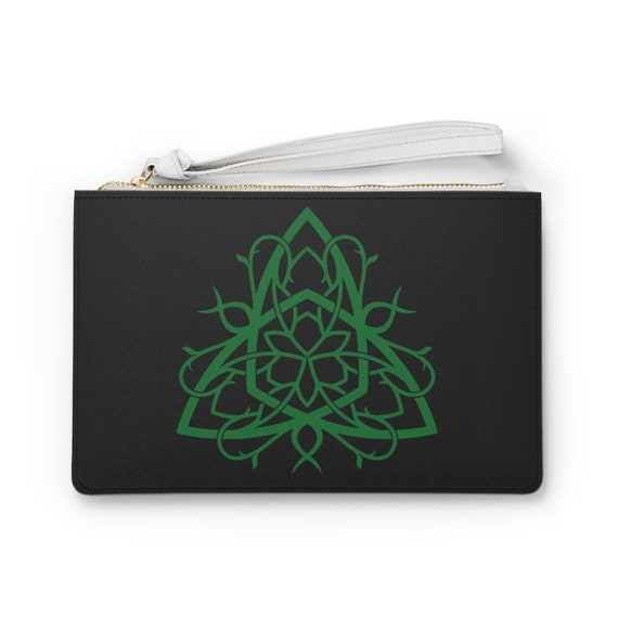 "Celtic Tree Of Life Knot 9""x6"" Vegan Leather Clutch Bag, Irish, Scottish, Welsh"