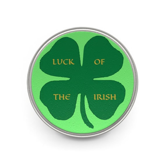 Luck Of The Irish, Pewter Pin, St. Patrick's Day, Four Leaf Clover, Ireland