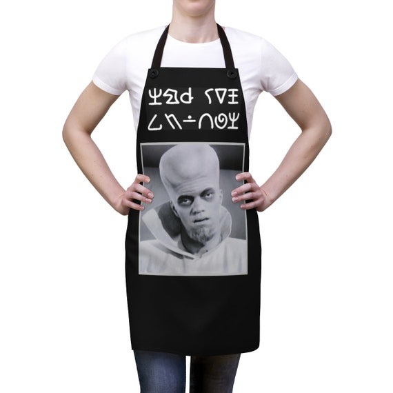 To Serve Man, Cookout Apron, Vintage TV Book, Original Twilight Zone